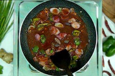 stir gently sauce
