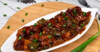 chilli-chicken-dry-place-on-white-plate