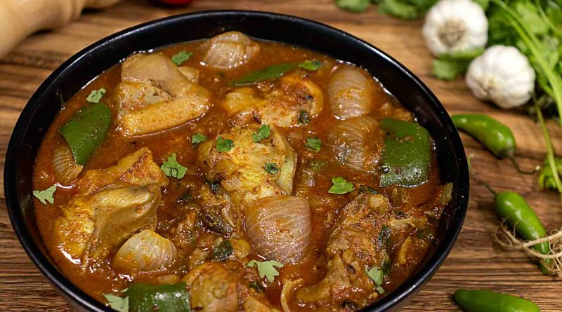 kadai-chicken-recipe-in-black-serving-bowl