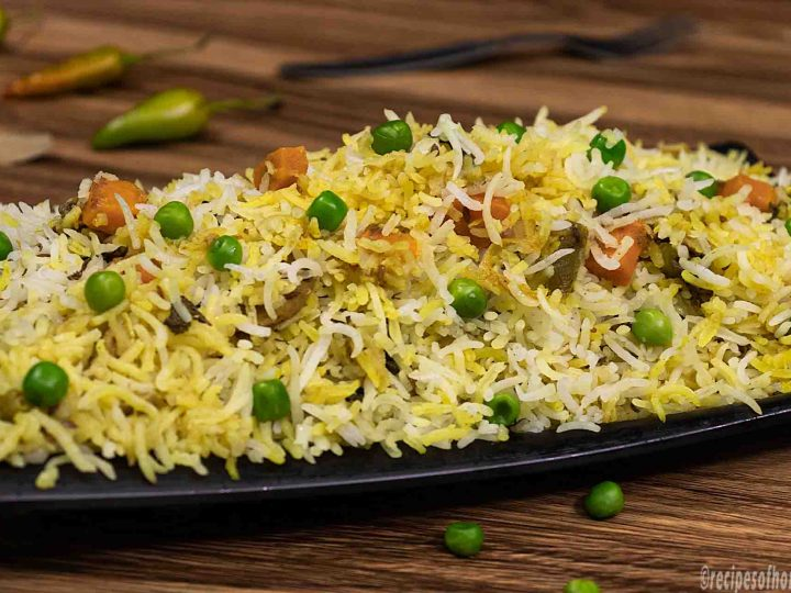 Veg Biryani Recipe How To Make Vegetable Biryani In Cooker Dum Style
