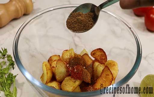 sprinkle chaat masala powder