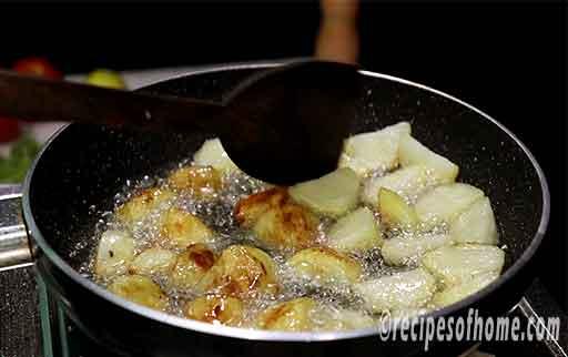 flip both side of potatoes