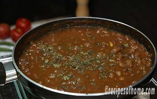 sprinkle a teaspoon of kasuri methi