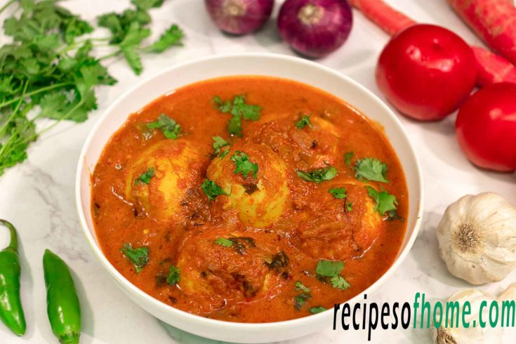 egg curry recipe , anda curry , spicy egg curry recipe