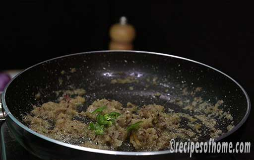 sprinkle chopped green chili and saute them together