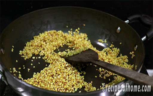 moong dal becomes golden brown