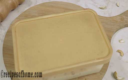 place the butterscotch ice cream mixture in refregerator