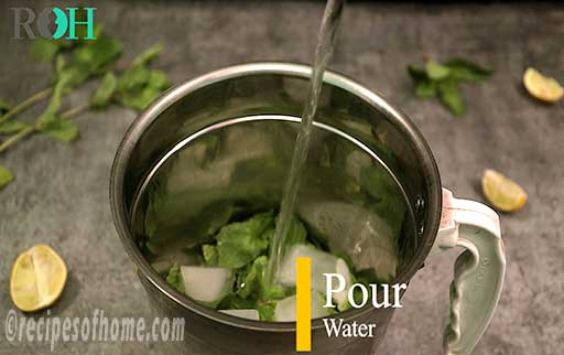 pour dash of water