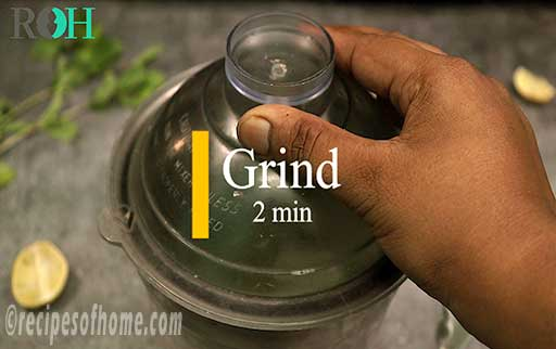grind at least 2 min