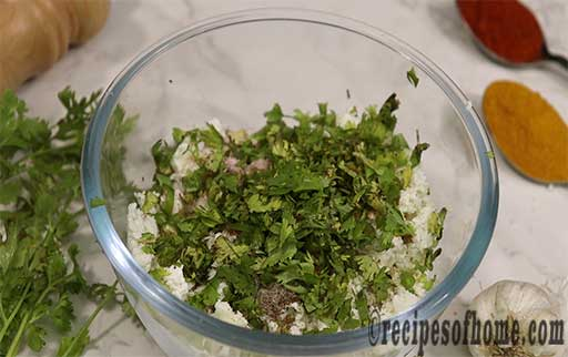 add finely chopped coriander leaves
