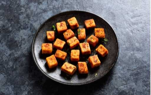 take out fried paneer
