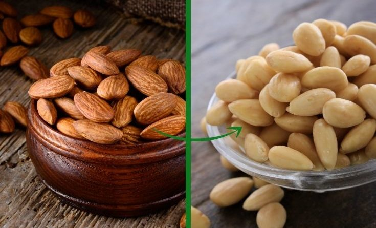 how to blanch almonds fast