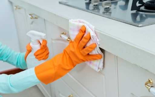 wipe cabinet with dry cloth
