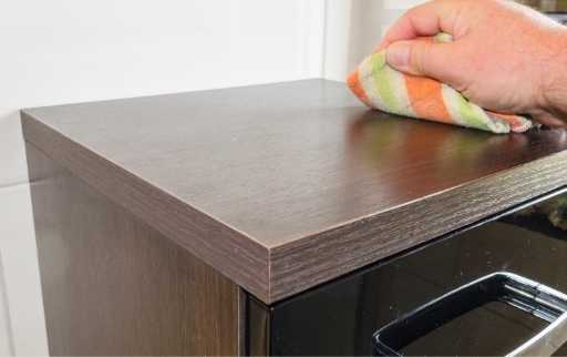 wipe table with dry cloth